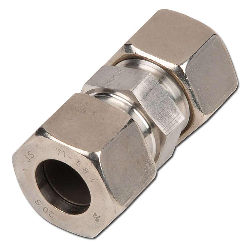 Verschraubung - VA - Ausführung (S) - gerade - Rohr-Ø 6-38 mm