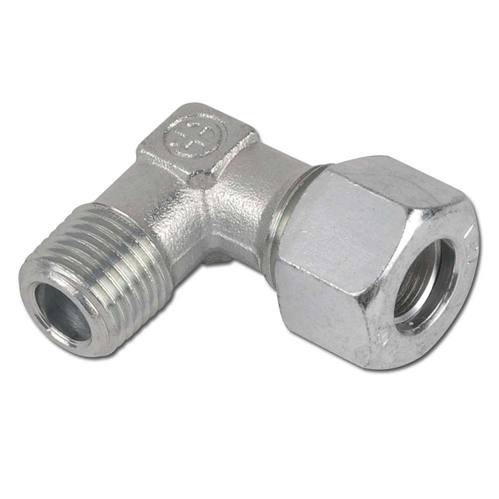 90°- Einschraubverschraubung - Stahl - metrisch - Ausführung L - Schneidringverschraubung
