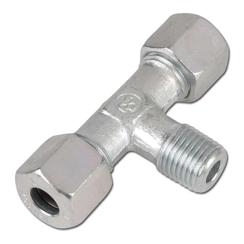 T-Einschraubverschraubung - Stahl - zöllig (BSP) - Ausführung L