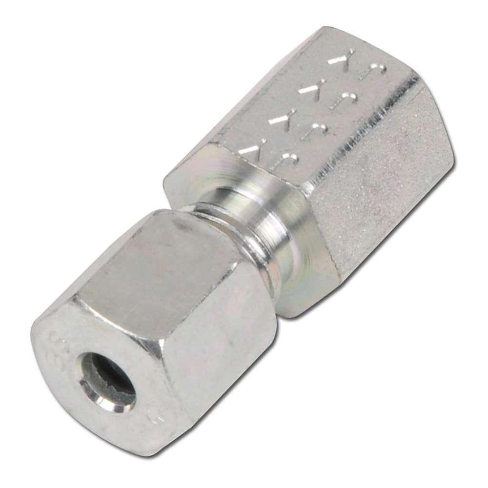 Aufschraubverschraubung - Stahl - zöllig (BSP) - Ausführung S - gerade - Schneidringverschraubung