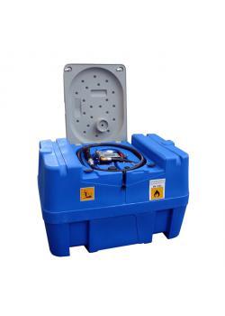 Mobil Bränsletank - 400 liter - för diesel - pump 40 l / min 230 V - med låsbart lock