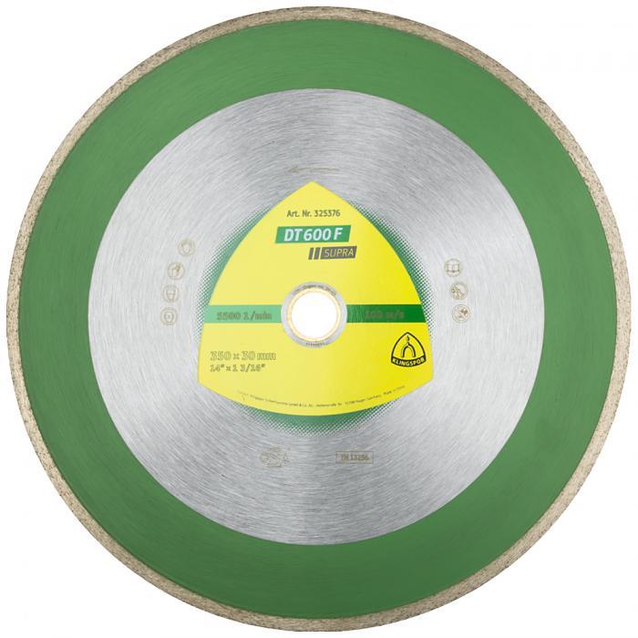 Diamanttrennscheibe DT 600 F - Durchmesser 180 bis 350 mm - Bohrung 30 mm - gesintert - geschlossener Rand