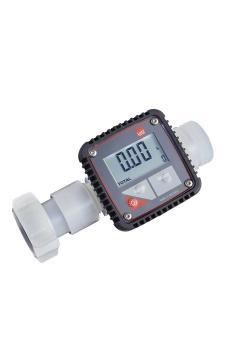 """Durchflusszähler - für hochaggressive Flüssigkeiten - Messbereich 5 bis 120 l/min. - Anschlussgewinde G 1 1/4 """""""