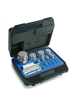 Vægt Set F 1 - 15 test lodder - 1 mg til 50 g - messing, aluminium, nikkel sølv