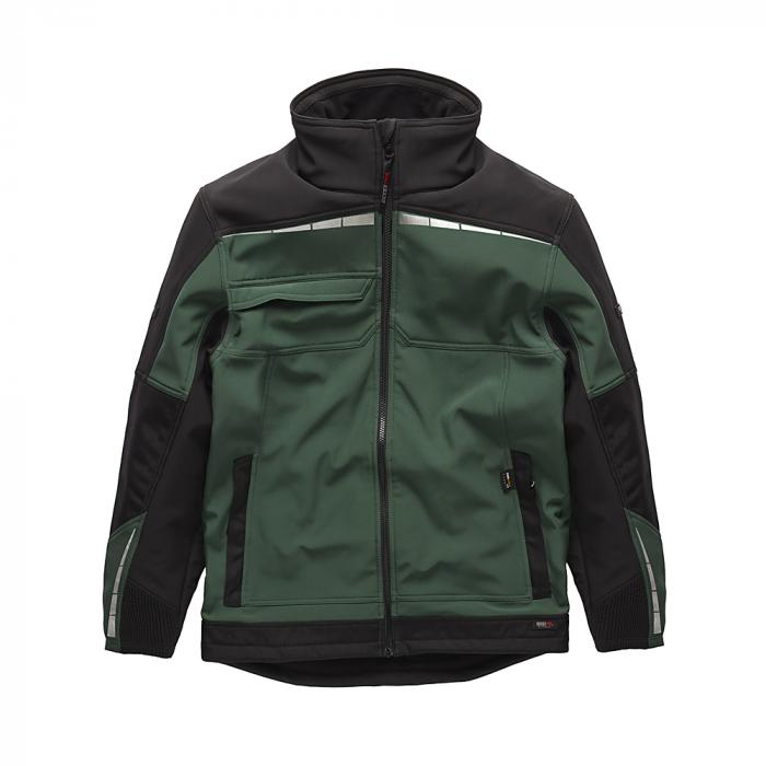 Softshell jacka Pro - Dickies - storlekar S till XXXL - grön / svart
