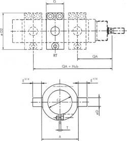 Midjefäste - rostfritt stål 1.4401 - för Clean-Profile cylinder