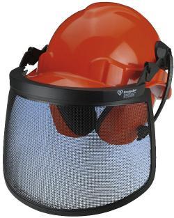 Skyddsutrustning för skogsarbetare mekaniska risker och buller