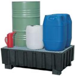 Auffangwanne - Traglast 500 kg - Auffangvol. 200 L - 2 Fässer à 200 L