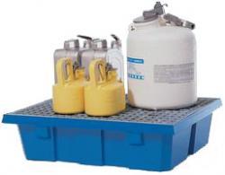 Uppsamlingskar - för mindre behållare - 60 l - bärlast 180-240 kg