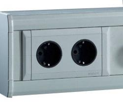 Schutzkontakt-Steckdose - 2 fach - 250V/16A