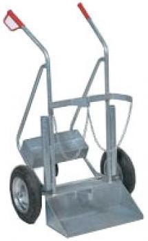 "Steel Bottle Carts ""Type GFR"" - Full Rubber Or Air Wheeled - Wheel Diameter 200-"