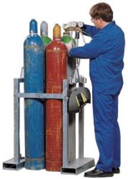 Transportställ för gasflaskor - för upp till 8 gasflaskor