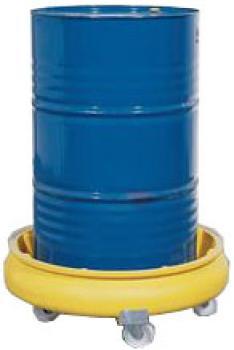 Fassroller mit PE-Auffangwanne - gelb