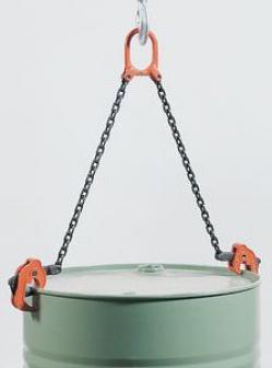 Pince de levage pour fûts -  force portante 500 kg - revêtu par poudre