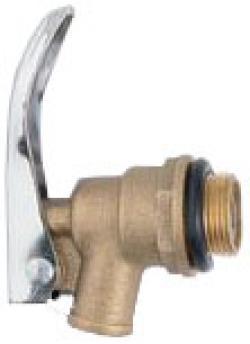 Ablassventil - Messing - Außengewinde 3/4 Zoll - beständig gegen Heizöl & Benzin