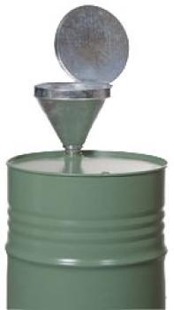 Fasstrichter - mit Außengewinde R2 Zoll - Stahl verzinkt - 6 l Volumen - Maße (ØxH) 300 x 350 mm