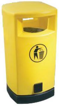 PE-Abfallsammler  - Volumen 80 l - Farbe gelb