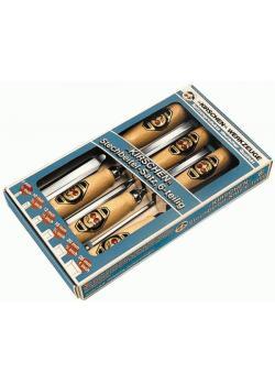 Stechbeitel-Satz mit Holzheft - riefenfrei - Werkzeug-Spezialstahl - KIRSCHE
