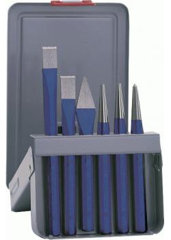 Verktygssats - 6 delar - i stålplåtkassett