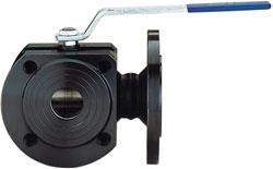 3-Way Flanged Ball Valve - Steel - Reduced Passage - PN 16