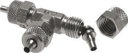 Snabbkoppling - T-koppling i flera delar - rostfritt stål