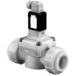 Solenoid Valve - 2/2-Way - Aggressive Medias - 0,5 To 6 Bar - Currentless Locked