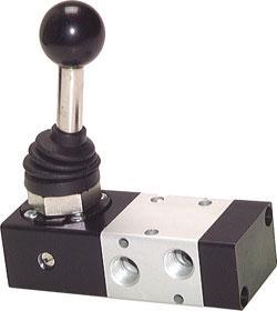 """Handspaksventil - 3/2-vägs - G 1/8"""" - byggserie XMV 100"""