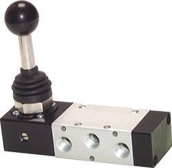 """Handspaksventil - 5/3-vägs - G 1/8"""" - byggserie XMV 100"""