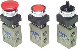 """Button Valve - 3/2-Way Switch And Rotary Switch - G 1 / 4 """"- Series YMV400"""
