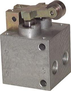 Pneumatic Limit Switch - 5/2-Way Roller Actuator - Heavy Constriction Type - G 1