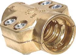 Klemmschalen - 2-teilig für Dampfschläuche - Messing - Spannbereich-Ø 24 - 26 bis 67 - 69 mm