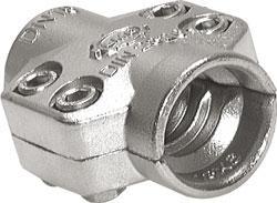 Collier de serrage sécurisé à 2 coquilles pour les flexibles à vapeur - inox - Ø de 24 à 69 mm - DIN 2826