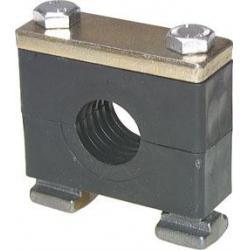 Rohrschelle - schwere Baureihe 1 bis 4 - Rohr-Ø 6 bis 60,3 mm - mit Tragmuttern für C-Schienen - Preis per Stück