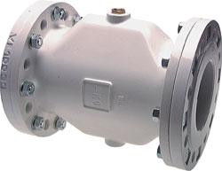 Squeezing valve - pneumatic with flange DIN 2632 - aluminium - up to 6 bar