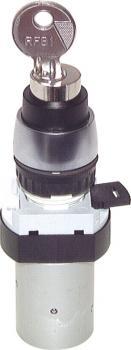 5/2-Wege-Tasterventil M5 für Schalttafeleinbau Ø22,5 mm - Schloßtaste - 34 N