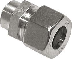 Svetskoppling - rak - rostfritt stål (NC) - lätt byggserie