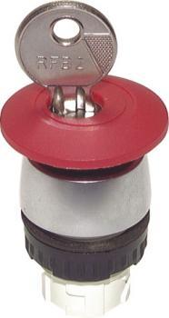 Betätiger-Aufsatz für Tasterventile  22,5mm Stopptaste rot mit 2 Schlüsseln