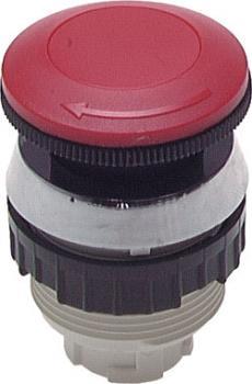 Actuator cap for push-button valves (diameter 30.5 mm) - Emergency stop button