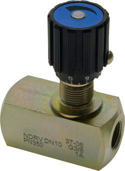 """Strypbackventil - Stål - till 300l/min - G 1/8"""" till 1"""" - förzinkad"""