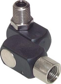 Swivel Joint With Male and Female Thread - Threefold - 360º Pivotable