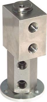 Rotary Flanged Feedthrough Unions - Twofold - Up To 300 1/min