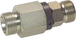 Rotary Straight Union - Galvanized Steel - Compression Fitting - PN 350