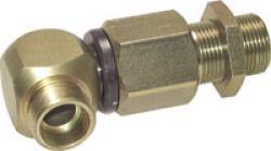 Kugelgeführte Winkel-Schottdrehverschraubung - Stahl verzinkt - PN 350