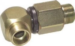 Kugelgeführte Winkeldrehverschraubung - Stahl verzinkt - PN 350