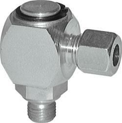 Vinklad vridkoppling, glidlager - förzinkat stål - metrisk gänga - 10 v/min