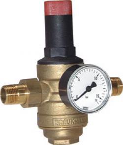 Filtertryckregulator för dricksvatten och kväve (siktkopp i mässing)