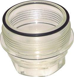 Siktkopp - transparent - för filtertryckregulatorer för dricksvatten