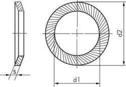 Sicherheitsscheiben (Schnorr) - S-Form Edelstahl A2