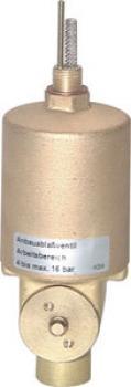 Anbau-Kondensatableit. - für Kombi-Wartungseinheit - mit Handnotbetätigung