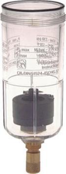 Kunststoffbehälter mit automatischem Ablaß für Filter und Filterregler Multifix